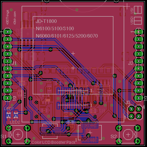 Color LCD BoosterPack in Development