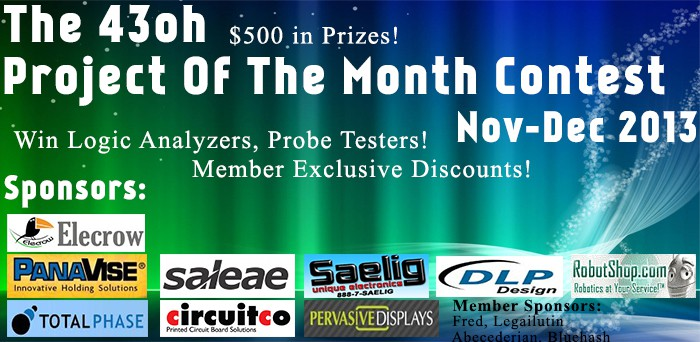 The Nov-Dec 2013 43oh Project Of The Month Contest : Tons of Prizes!