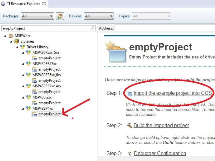 How To Setup A Clean MSP432 Project In Code Composer Studio
