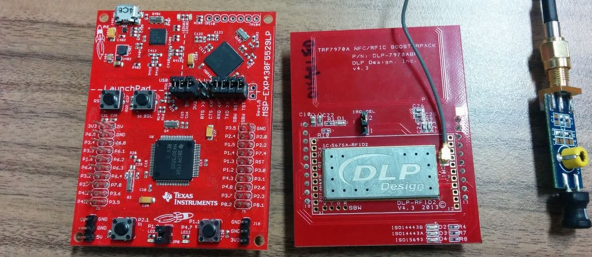 msp430F5529_launchpad_DLP_NFC_TRF7970A_boosterpack