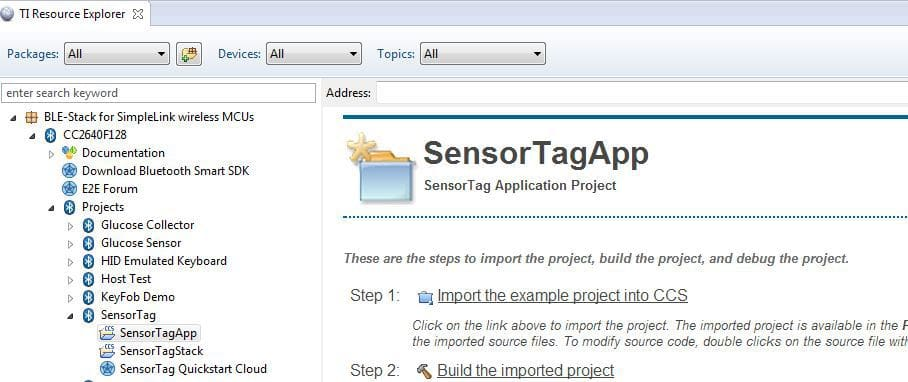 sensortag_ccs_ti_resource_explorer_app_import