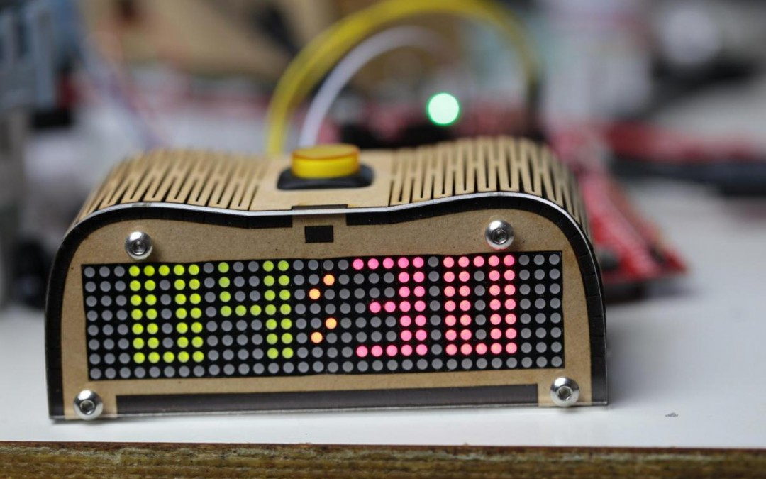 Photo Essay – Greeeg's Dual 8×8 LED MSP430 Clock